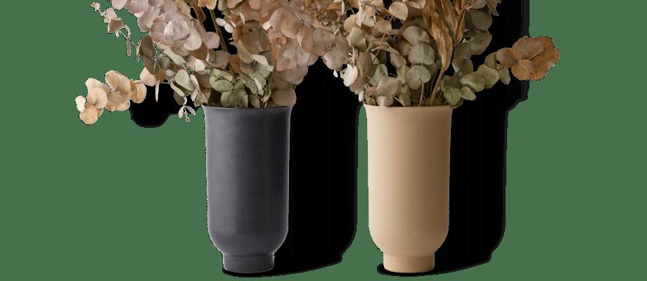 Menu Cyclades Vase Vas i svart och sand