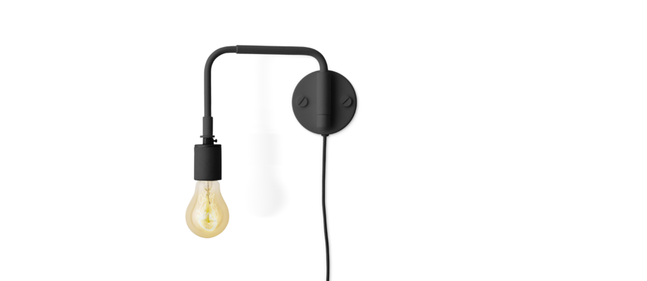 Menu Staple Wall Lamp Vägglampa Svart