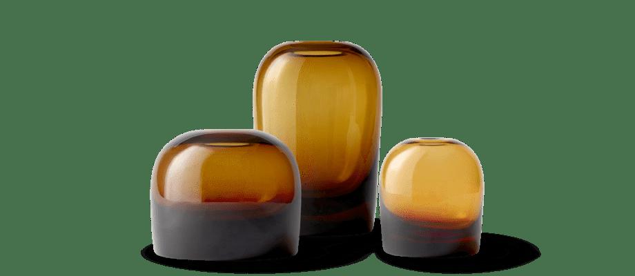 Menu Troll Vase Vas Amber i storlekarna medium, large och small