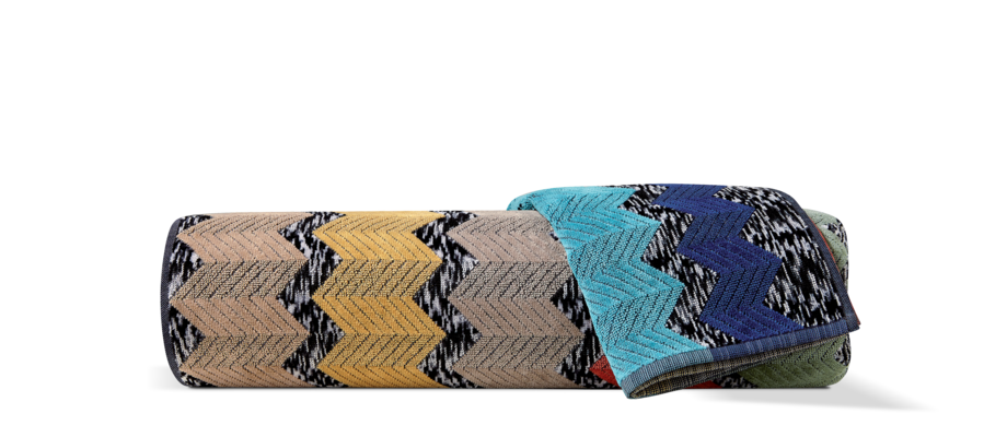 Missoni Home Wilfred 100 Handduk i bomull med zigzagmönster