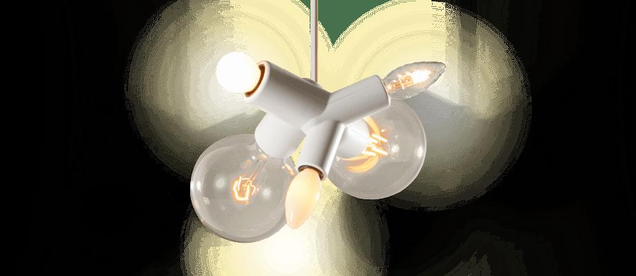 Moooi Clusterlamp Pendel i vit färg med fem olika ljuskällor