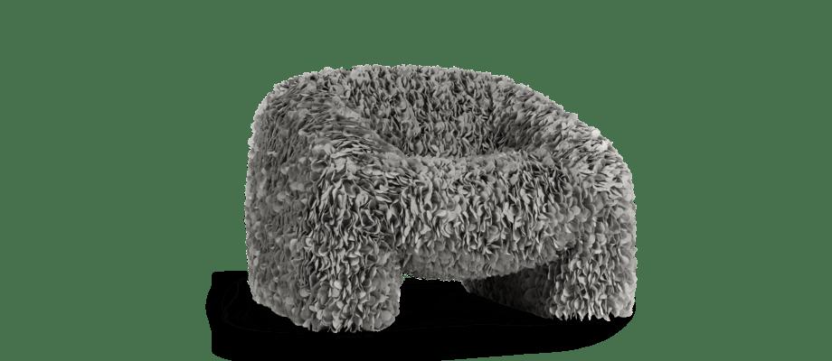 Moooi Hortensia Armchair Petal Grey Fåtölj med grå blad