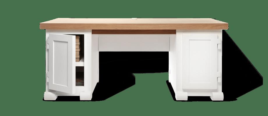 Moooi Paper Desk 180 Skrivbord i vit färg med topp i ek