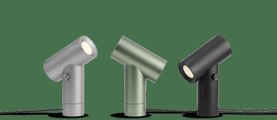 Muuto Beam Lamp Bordslampa i aluminium, grön och svart