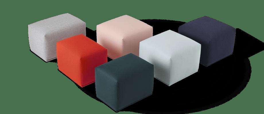 Muuto Echo Pouf Sittpuff i flera olika tyger och färger från Kvadrat
