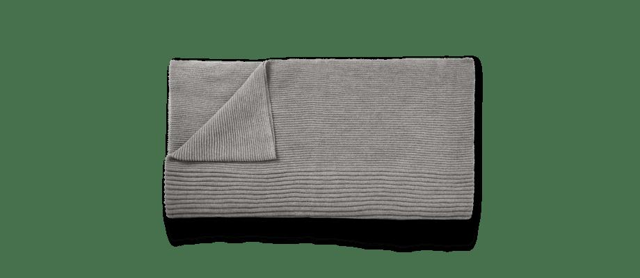 Muuto Rhythm Throw Light Grey Pläd av lamaull i ljusgrå färg