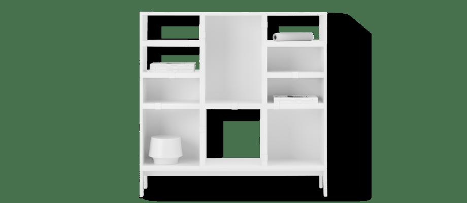 Muuto Stacked Configuration 4 Hylla i vit färg