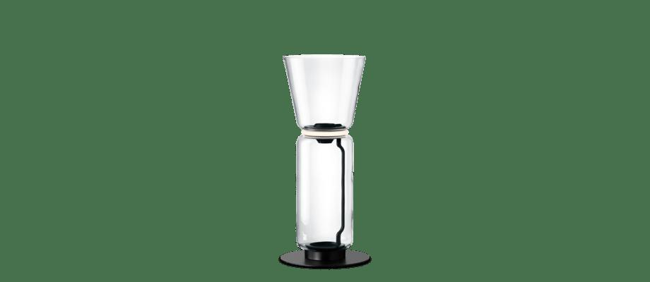 Flos Noctambule 1 Cone Golvlampa med konformad skärm och en glascylinder