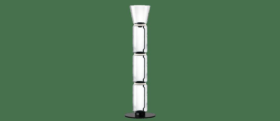 Flos Noctambule 3 Cone Golvlampa med tre glascylindrar och konformad skärm