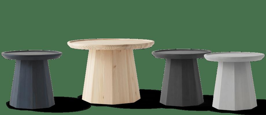 Normann Copenhagen Pine Table Soffbord i mörkblå, tall, mörkgrå och ljusgrå