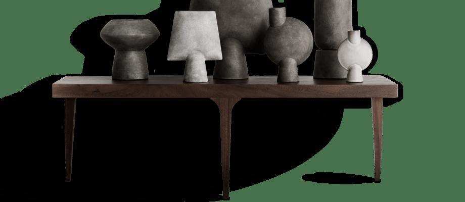 Norr11 Shark Table Soffbord i mörkbetsad suarträ