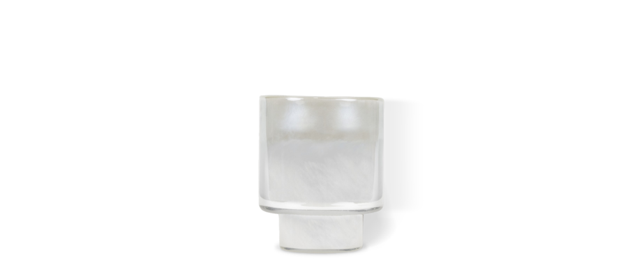 Olsson & Jensen Frost Ljuskopp i vitt glas med frostad finish