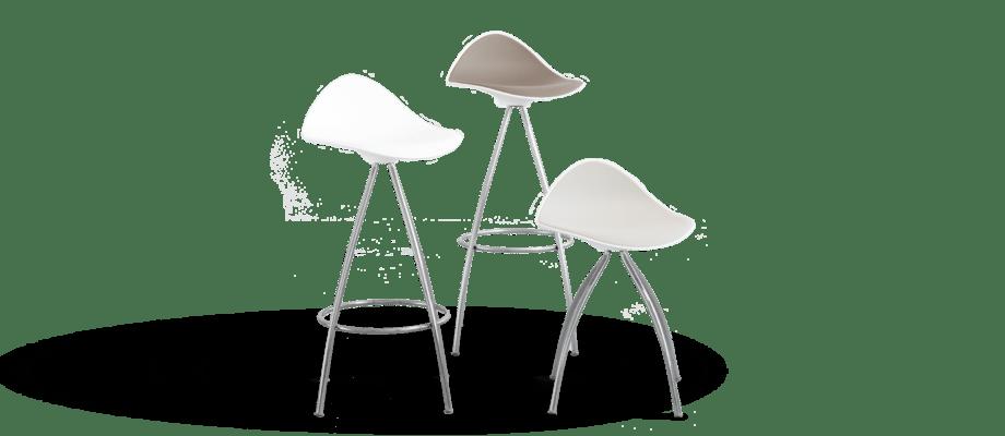 Stuas barstol Onda finns med sitthöjd på 46, 66 och 76 cm på Olsson & Gerthel