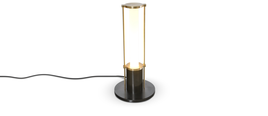 OX Denmarq Lighthouse Bordslampa i mässing och oxiderat stål