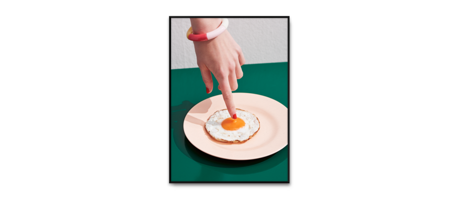 Paper Collective Fried Egg Poster 50x70 centimeter
