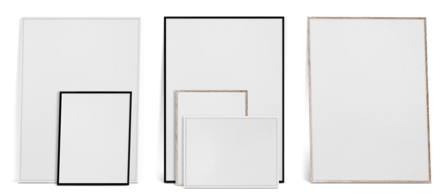 Paper Collective PC Frame Ram i svart, vit och ek i 30x40 och 50x70 cm