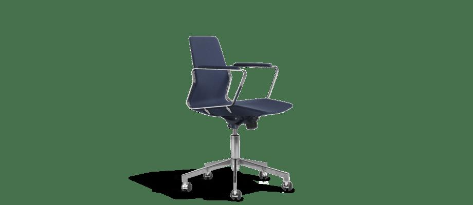 Den miljövänliga kontorsstolen Pilot Low av Alexander Lervik är märkt med Möbelfakta