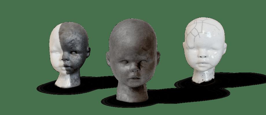 De populära lerhuvudena Raku Doll från Lera är både lekfulla och unika