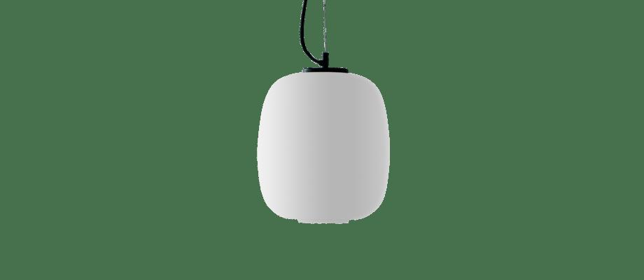 Santa & Cole Globo Cesta Pendellampa i opalglas och svartlackerad metall