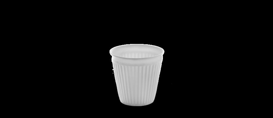 Snygg espressokopp i vitt porslin från det belgiska varumärket Serax