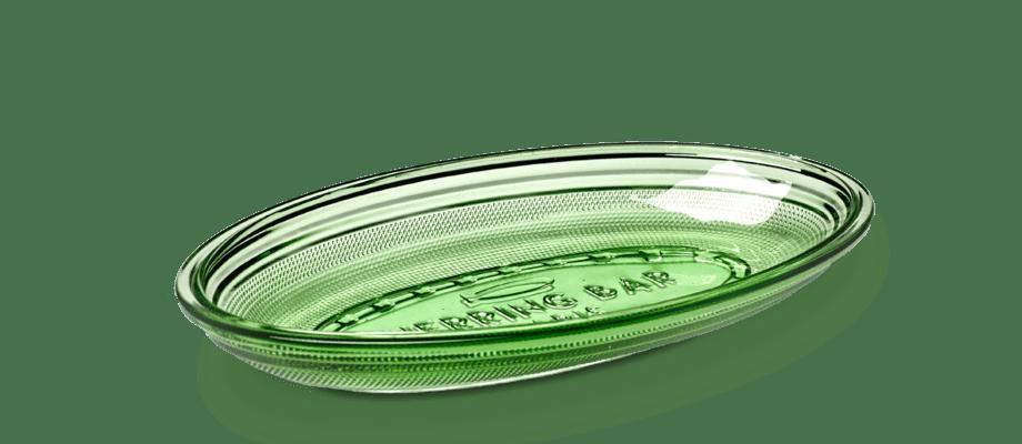 Paola Navones fat Dish i grönt glas för belgiska Serax är inspirerad av den stora depressionen