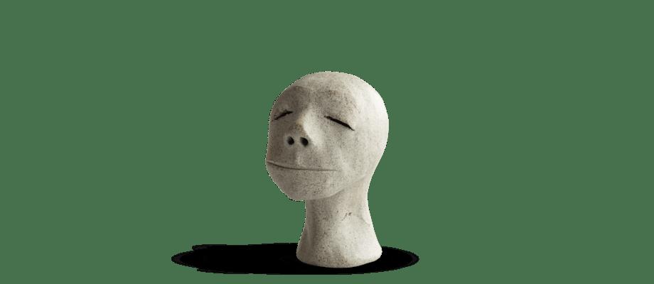 Simon Vendin Faces No. 43 Skulptur i bränt lergods