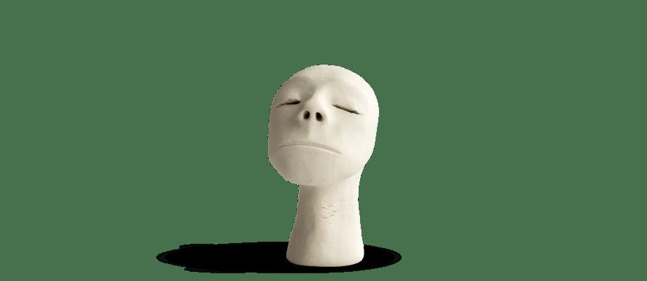 Simon Vendin Faces No. 45 Skulptur i bränt lergods