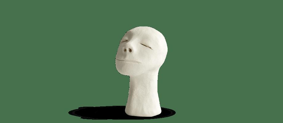 Simon Vendin Faces No. 46 Skulptur i bränt lergods