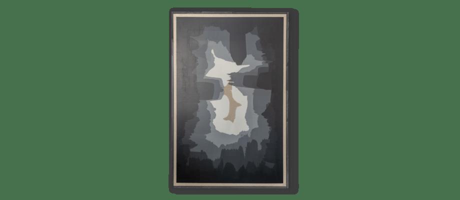 Simon Vendin Infinity V Tavla i akrylfärg på linneduk med svart träram