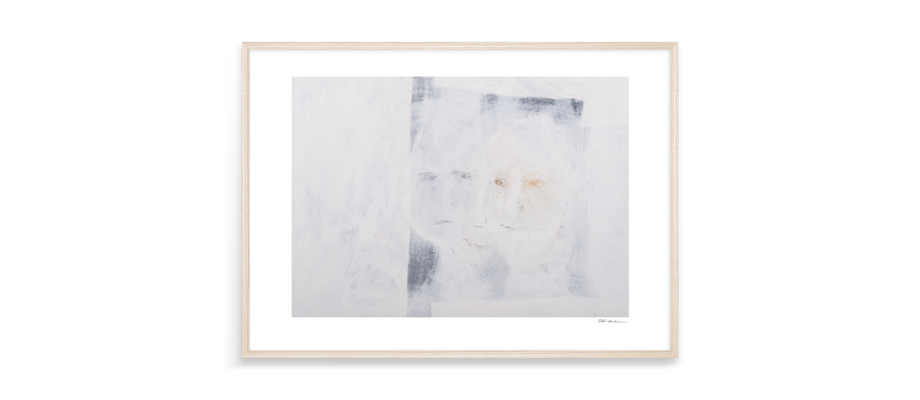 S. Vendin Two Three Faces Print