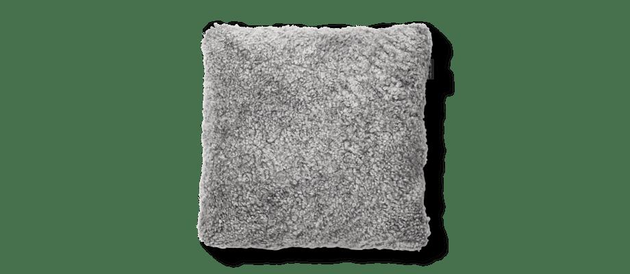 Skinnwille Curly Pillow Lammskinnskudde 27 Charcoal Grey Silver Grå