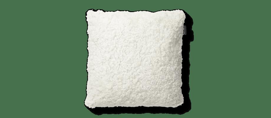 Skinnwille Curly Pillow Lammskinnskudde 00 White Vit