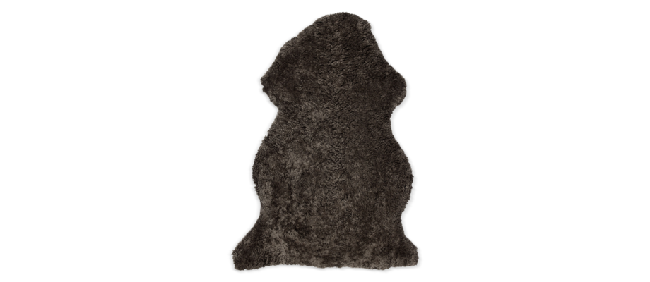 Skinnwille Curly Rug Lammskinn Brun i färgen 86 New Brown Melange