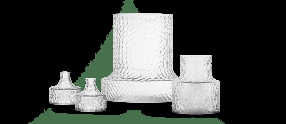 Skrufs Glasbruk Kolonn Vas i liten, mellan och stor storlek av Carina Seth Andersson