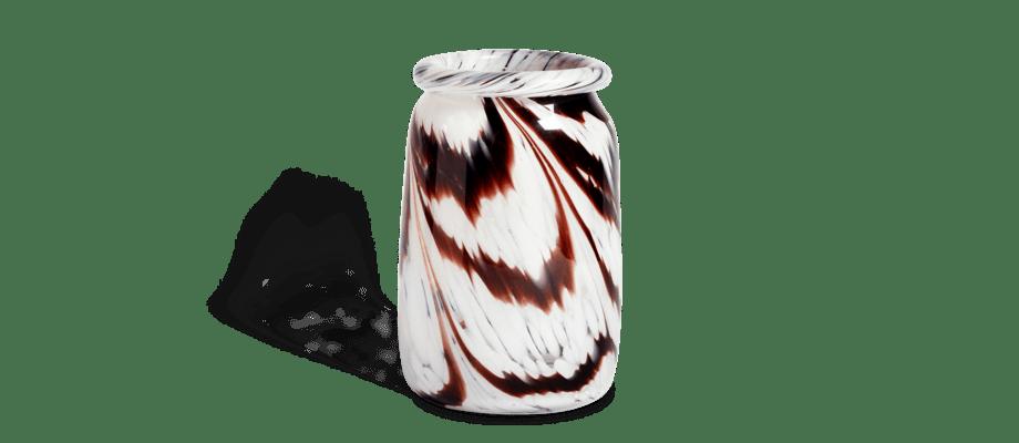 HAY Splash Vase Coffee White i brunt och vitt glas