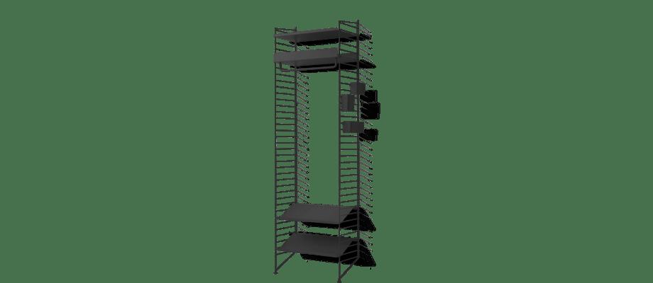 String Stringhylla Kombination F i ett svart, färdigt och inspirerande paket
