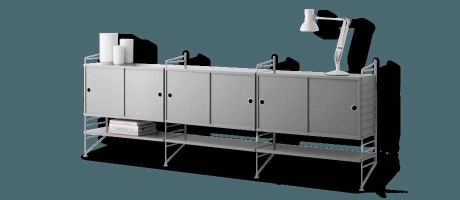 String Furniture Sideboard i grå mdf