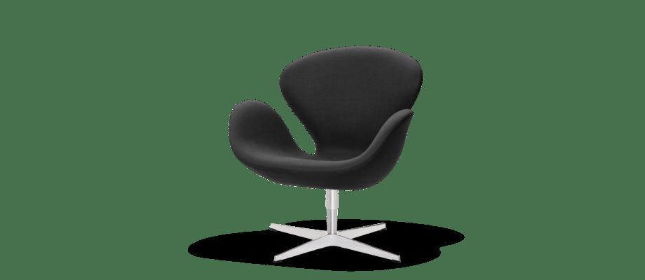 Svanen fåtölj av Arne Jacobsen är otroligt elegant oavsett du om väljer den i tyg eller läder