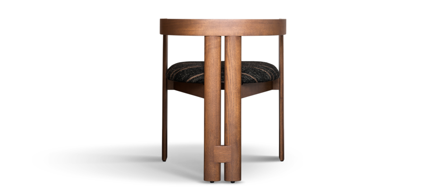 Tacchini Pigreco Chair Limited Edition i valnöt och tyget Lippia