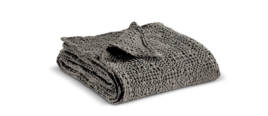 Bomullsfilt med snygg mönstrad design och grå färg från Vivaraise