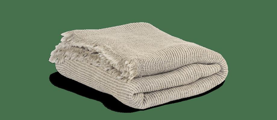 Tell Me More Calma Blanket Filt i bomull och linne