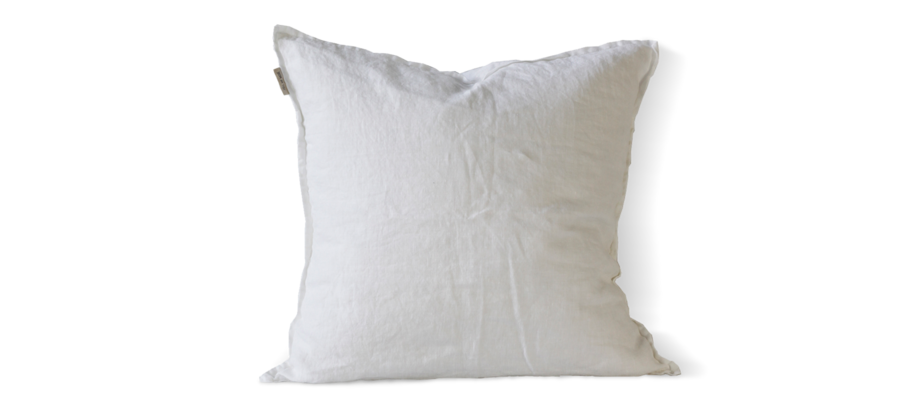 Tell Me More Cushion Cover Linen Kuddfodral Bleached White i linne