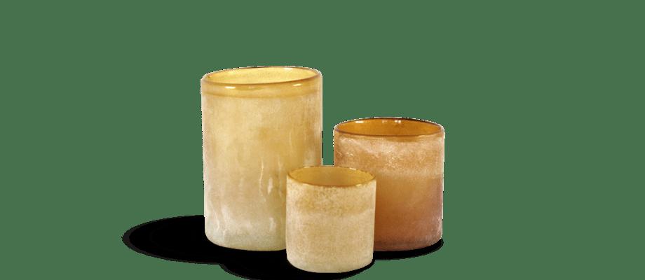 Tell Me More Frost Candleholder Ljushållare Amber