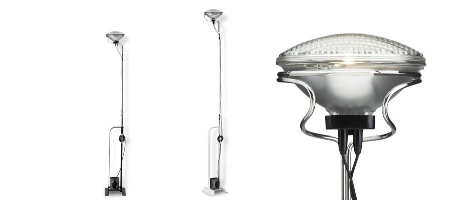 Flos Toio med readymade-inspirerad design av Pier och Achille Castiglioni