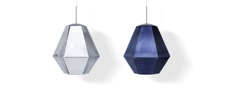 Tom Dixon Cut Tall Pendel i Chrome och Smoke