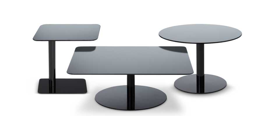 Tom Dixon Flash Table Square/Rectangle/Circle I svart färg