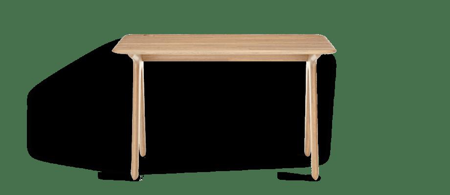 Tom Dixon debuterar bland kontorsmöbler med sitt nya skrivbord Slab Desk i ek