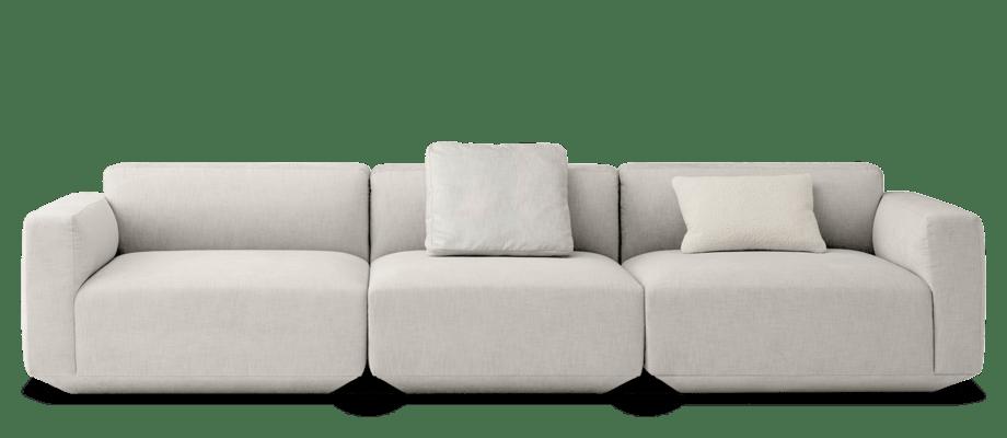 &Tradition Develius 3-sitssoffa med tygklädsel i beige färg
