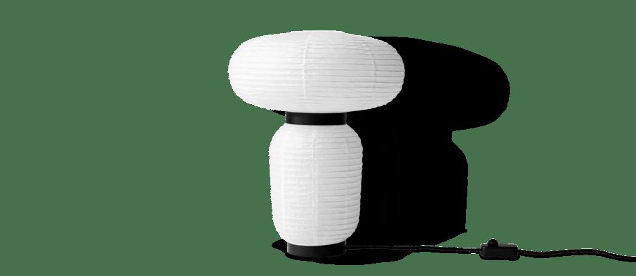 &Tradition Formakami JH18 Bordslampa i vitt rispapper och svartlackad ek
