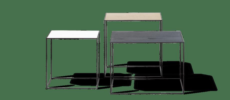 Twin Table från By Lassen finns i storlekarna 35, 42 och 49 med ställning i svart eller grå
